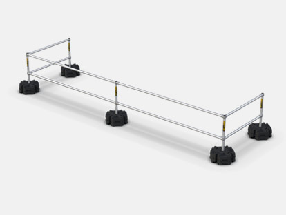 Safety guardrail systems compact