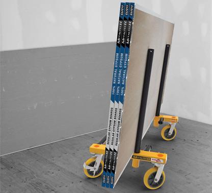 Drywall  carts, stilts, panel hoist